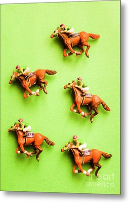 Jockeys And Horses Metal Print by Jorgo Photography - Wall Art Gallery