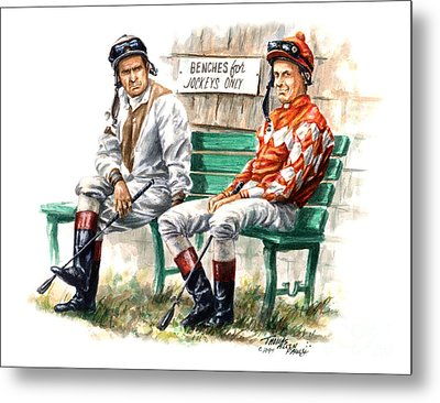 Jockeys Only Metal Print