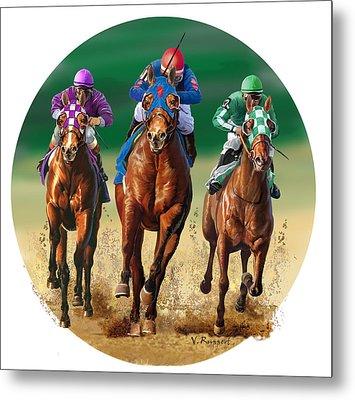 Jockeys Metal Print by Valer Ian