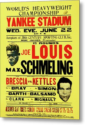 Joe Louis Vs Max Schmeling Metal Print by Bill Cannon