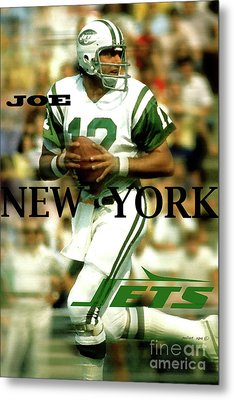 Joe Namath, Broadway Joe, New York Jets Metal Print
