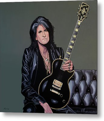 Joe Perry Of Aerosmith Painting Metal Print by Paul Meijering