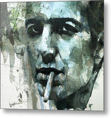 Joe Strummer - Retro  Metal Print