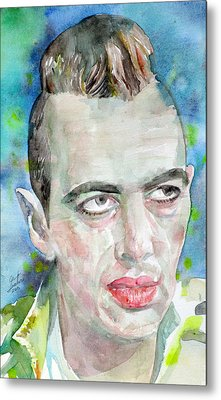 Joe Strummer - Watercolor Portrait.4 Metal Print