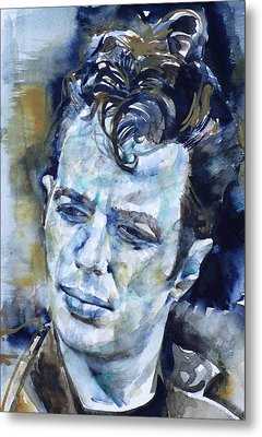Joe Strummer - Watercolor Portrait.6 Metal Print