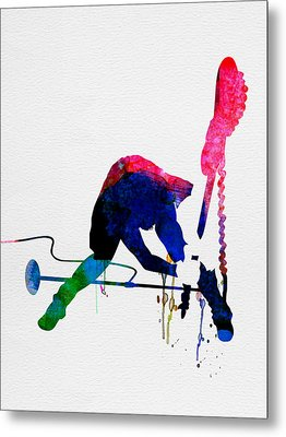 Joe Watercolor Metal Print by Naxart Studio