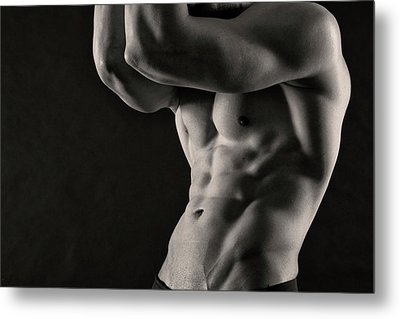Joel Torso Metal Print by Thomas Mitchell