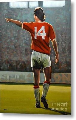 Johan Cruyff Oranje Nr 14 Metal Print