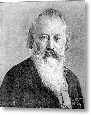 Johannes Brahms, German Composer Metal Print by Science Source