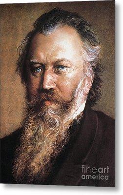 Johannes Brahms Metal Print by Granger