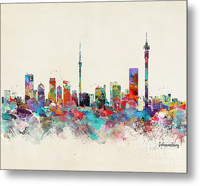 Johannesburg South Africa Skyline Metal Print by Bri B