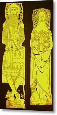 John And Joan De Northwood.jpg Metal Print by William Streett