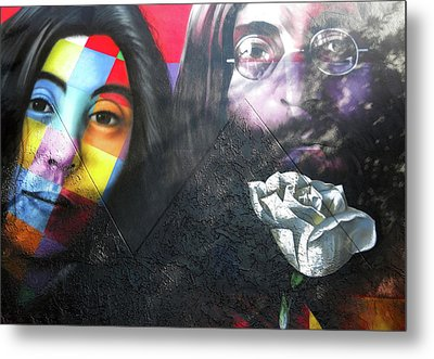 Metal Print featuring the photograph Yoko And John  by Juergen Weiss