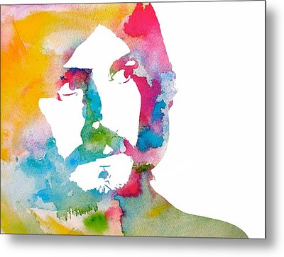 John Bonham Watercolor Metal Print