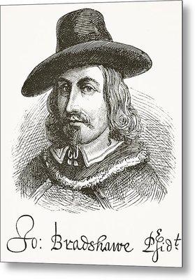 John Bradshaw 1602 To 1659. Judge At Metal Print