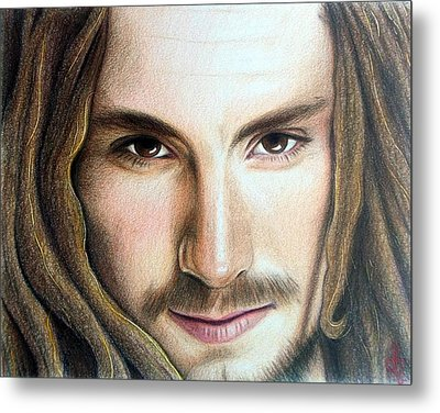 Metal Print featuring the drawing John Butler by Danielle R T Haney