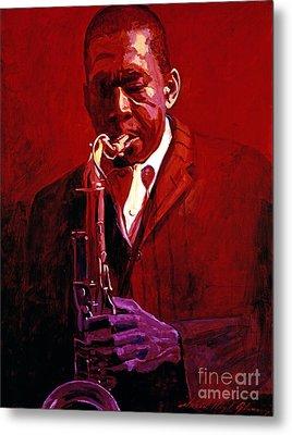 John Coltrane Metal Print by David Lloyd Glover