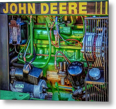 John Deere Engine Metal Print