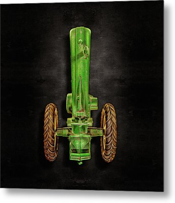 Metal Print featuring the photograph John Deere Top On Black by YoPedro
