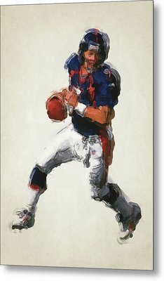 John Elway Denver Broncos Art 2 Metal Print by Joe Hamilton