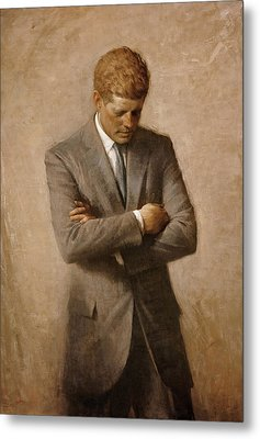 John F Kennedy Metal Print by War Is Hell Store