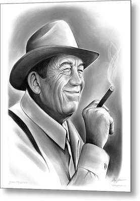 John Huston Metal Print by Greg Joens