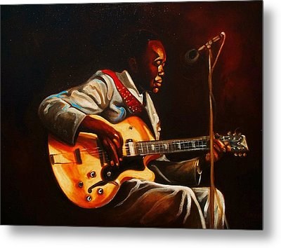 Metal Print featuring the painting John Lee by Emery Franklin