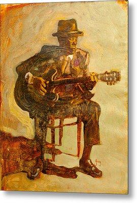 John Lee Hooker Metal Print by Michael Facey