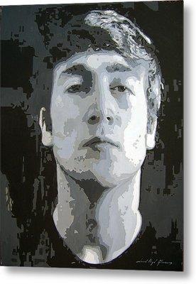 John Lennon - Birth Of The Beatles Metal Print by David Lloyd Glover