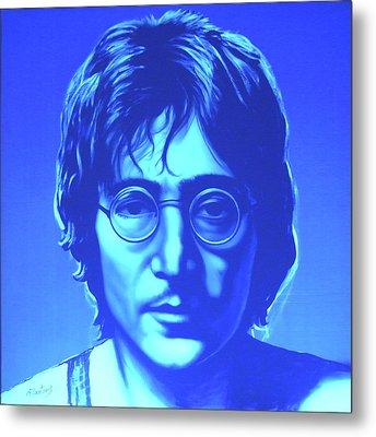 John Lennon Metal Print by Agris Rautins