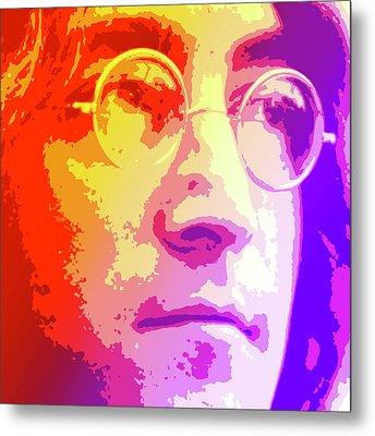 John Lennon Metal Print by Greg Joens
