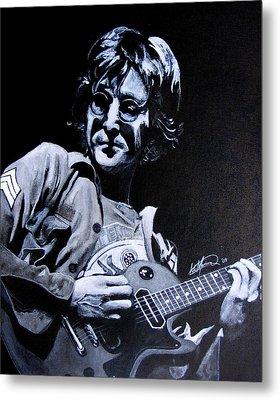 John Lennon Metal Print by Luke Morrison