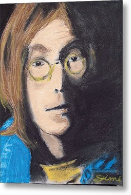 John Lennon Pastel Metal Print by Jimi Bush