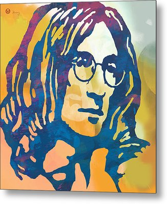 John Lennon Pop Art Poster Metal Print by Kim Wang