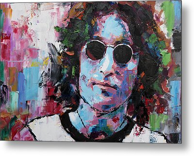 Metal Print featuring the painting John Lennon by Richard Day