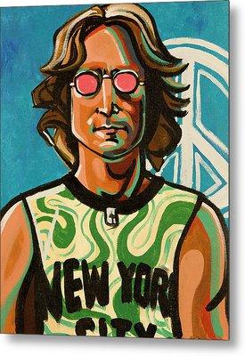 John Lennon Metal Print by Rob Tokarz