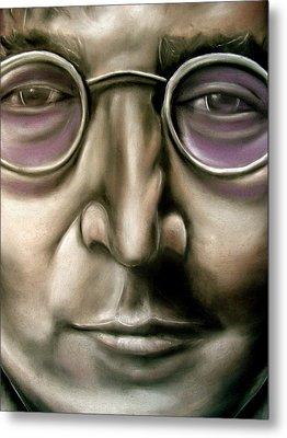 John Lennon Metal Print by Zach Zwagil