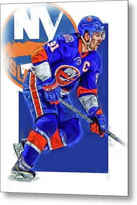 John Tavares New York Islanders Oil Art Series 1 Metal Print