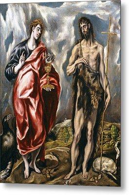 John The Baptist And John The Evangelist  Metal Print by El Greco