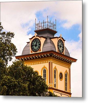 John W. Hargis Hall Clock Tower Metal Print