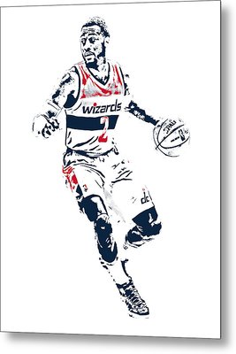 John Wall Washington Wizards Pixel Art 1 Metal Print