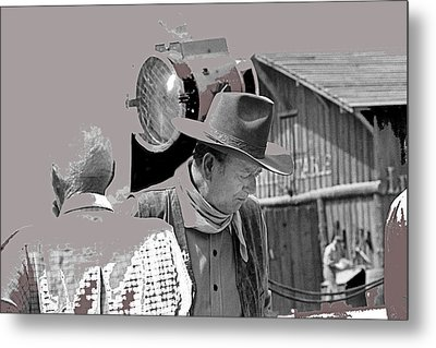 John Wayne And Director Howard Hawks  Alienated Rio Lobo Old Tucson Arizona 1970-2016 Metal Print