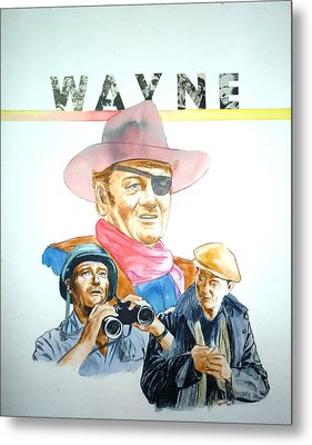 John Wayne Metal Print by Bryan Bustard