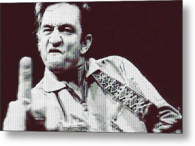 Johnny Cash Beer Cap Mosiac Metal Print by Dan Sproul