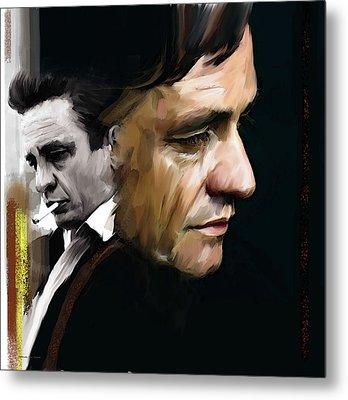 Johnny Cash  Hurt Metal Print by Iconic Images Art Gallery David Pucciarelli