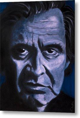 Johnny Cash Metal Print by Tabetha Landt-Hastings