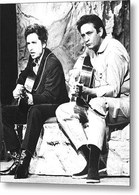 Johnny Cash, With Bob Dylan, C. 1969 Metal Print by Everett