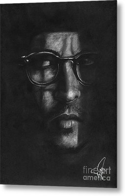 Johnny Depp 2 Metal Print by Rosalinda Markle