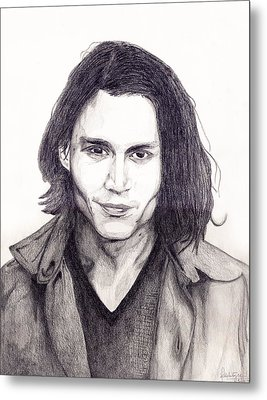 Johnny Depp Metal Print by Debbie McIntyre