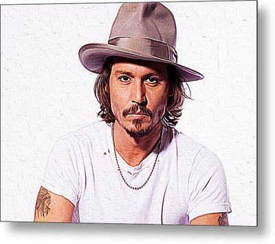 Johnny Depp Metal Print by Iguanna Espinosa